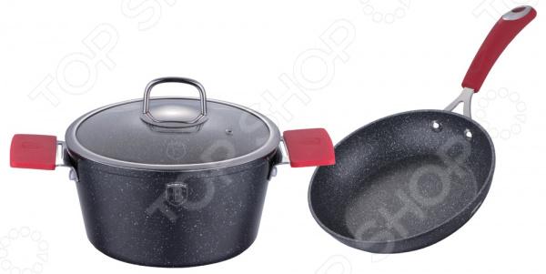 Набор: сковорода и кастрюля Berlinger Haus BH-1178 Stone Touch