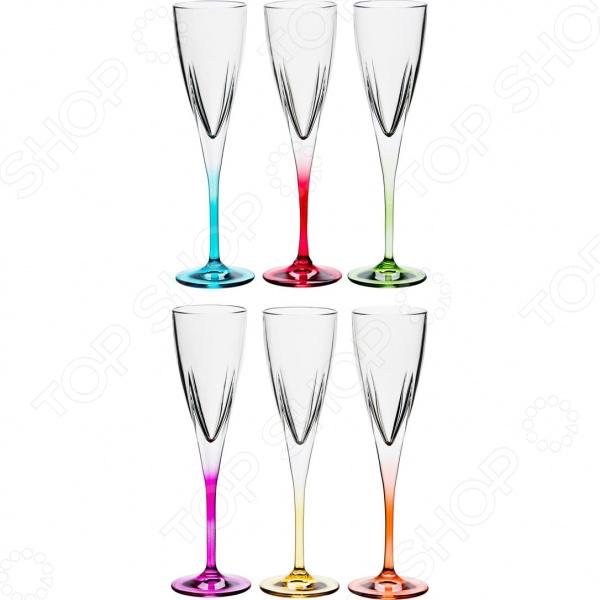 Набор бокалов для шампанского RCR «Фьюжн Колорс» 305-128 набор стаканов rcr имперо 305 112