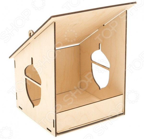 Заготовка деревянная для изготовления кормушки Азбука тойс «Желудь» азбука тойс деревянная заготовка для декорирования кормушка