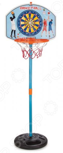 Баскетбольное кольцо PILSAN с мишенью для игры в дартс