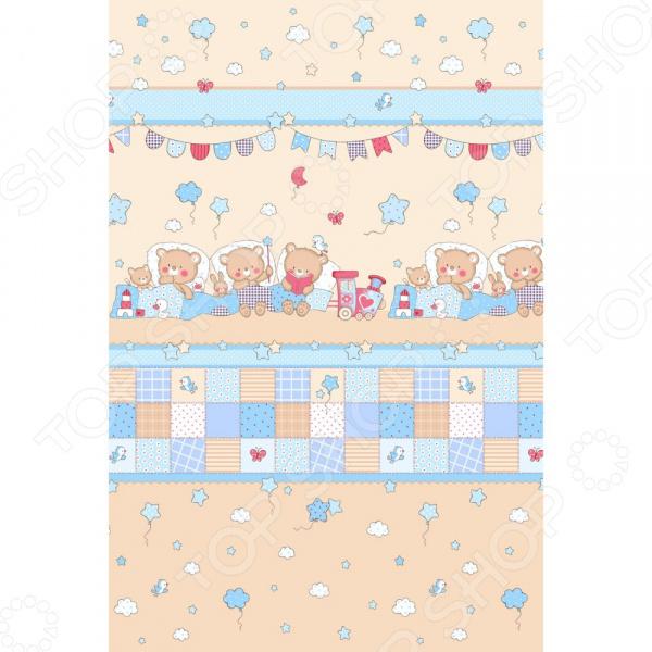 Полотенце банное вафельное ТексДизайн «Паровозик»