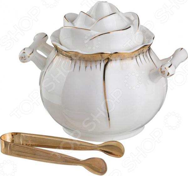 Набор: сахарница и щипцы для сахара Lefard «Цветочная симфония» 590-018 чайный набор lefard цветочная симфония 590 004