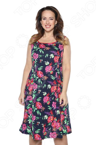 Платье Алтекс «Варенька». Цвет: синий