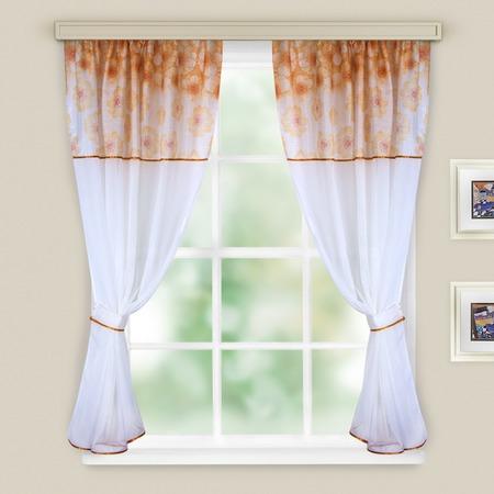 Комплект легких штор WITERRA «Кристалл». Цвет: коричневый. В ассортименте