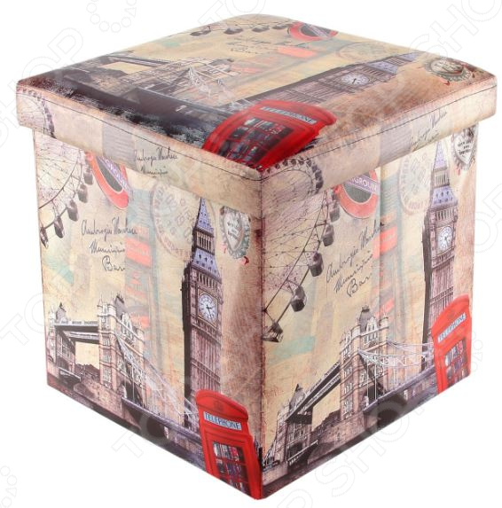 Пуф складной с ящиком для хранения EL Casa «Лондон Биг Бен» EL Casa - артикул: 972133