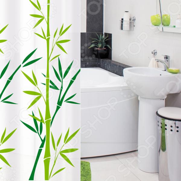 Штора для ванной Tatkraft Bamboo Green