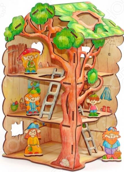 Игрушка-конструктор WOODY «Дом-дерево для Лешиков» аврора подвесная люстра аврора крит 10061 5l