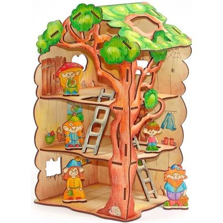 Купить Игрушка-конструктор WOODY «Дом-дерево для Лешиков»
