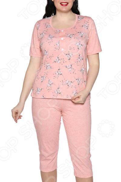 Костюм Алтекс «Женская забота». Цвет: розовый, бежевый