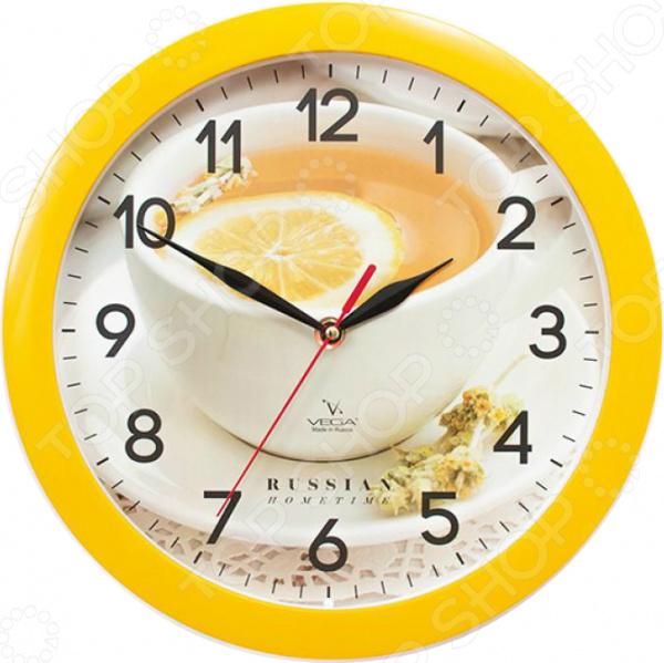 Часы настенные Вега П 1-2/7-259 «Лимонный чай»