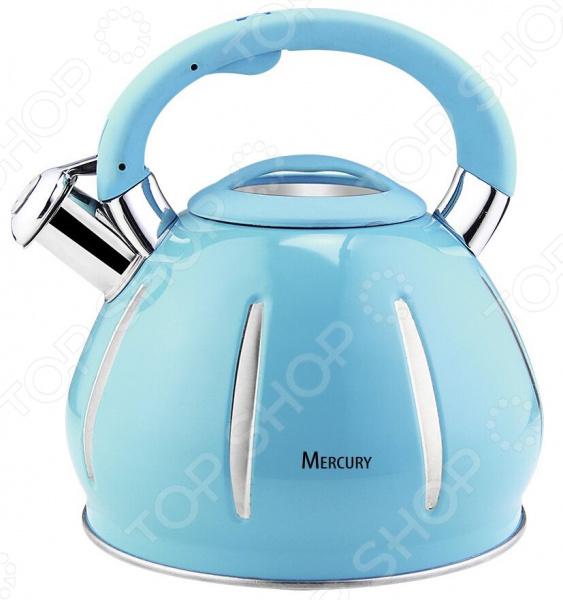 лучшая цена Чайник со свистком Mercury MC-6585