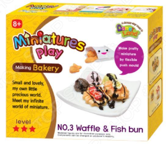 Набор для лепки Doner Land Miniatures Play «Сладкие вафли» всё для лепки miniatures play набор для лепки кремовый торт