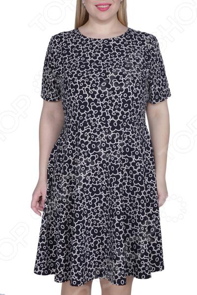 Платье ТРЕНД «Нежная особа». Цвет: черный платье тренд стильный силуэт цвет бордовый
