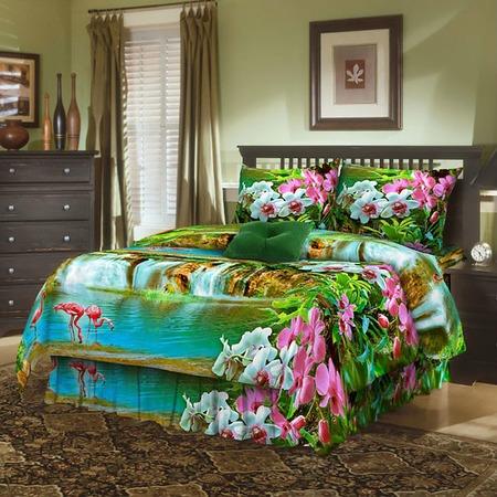 Купить Комплект постельного белья Диана «Фламинго». 1,5-спальный
