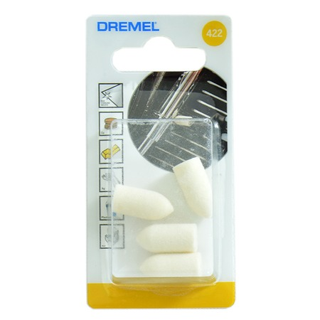 Купить Набор насадок войлочных полировальных Dremel 422