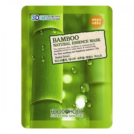 Купить Маска тканевая для лица FoodaHolic 3D с натуральным экстрактом бамбука