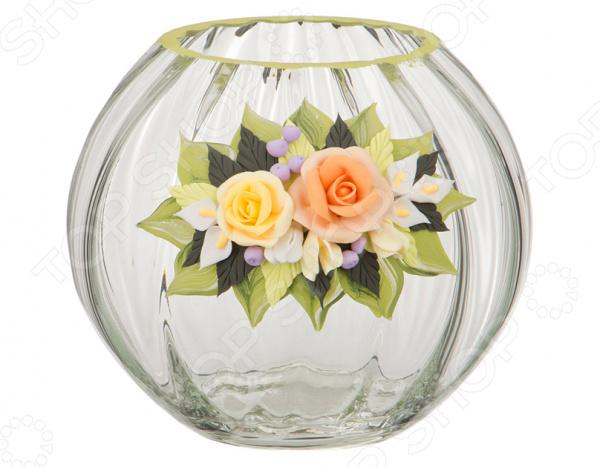 Ваза декоративная «Нежная роза» homereligion декоративная тарелка нежная роза средняя