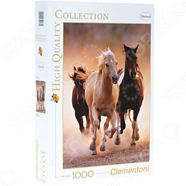 Пазл 1000 элементов Clementoni HQ «Бегущие кони» clementoni пазл hq бегущие кони 1000