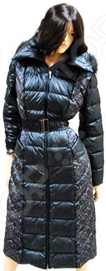 Пуховое пальто Sirenia Изабелла. Цвет: черный