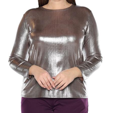 Купить Блуза Blagof «Изысканный блеск». Цвет: серебристый