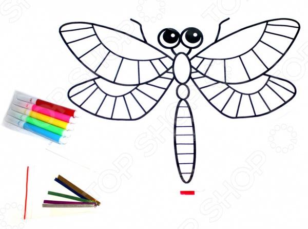 Раскраска надувная Bradex «Стрекоза» раскраски bradex раскраска надувная скорпион