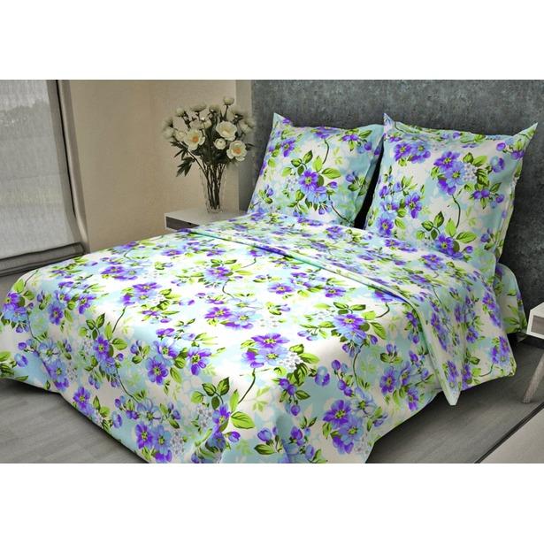 фото Комплект постельного белья Fiorelly «Яблоневый цвет голубой». 1,5-спальный