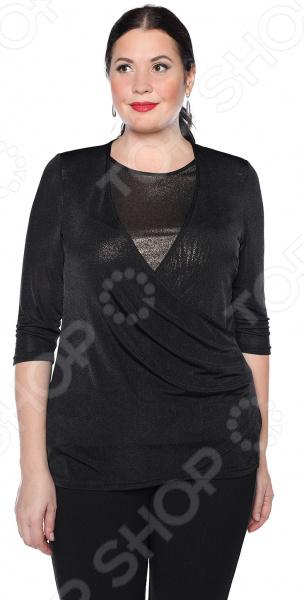 Блуза VEAS «Пылкое сердце». Цвет: черный