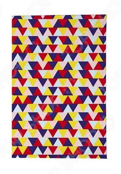Обложка для автодокументов кожаная Mitya Veselkov «Цветные треугольники»