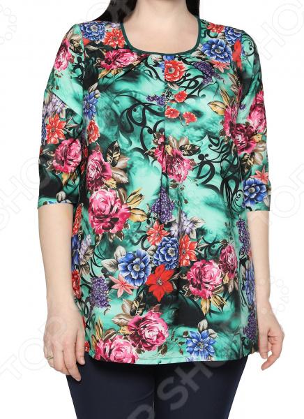 Блуза Лауме-Лайн «Сказочный сад». Цвет: бирюзовый