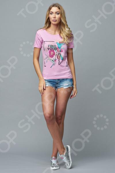 Футболка Milliner «Джунгли». Цвет: розовый пижама с шортами с рисунком