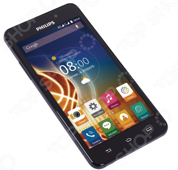Смартфон Philips Xenium V526 LTE 8Gb мобильный телефон philips e570 xenium dark gray
