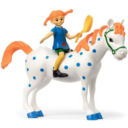 Купить Набор кукол для домика Micki «Пеппи Длинный Чулок и лошадь»
