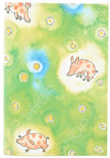 Обложка для паспорта кожаная Mitya Veselkov «Поросята» обложка для автодокументов mitya veselkov поросята