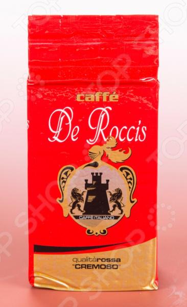Кофе молотый De Roccis Q Rossa Cremoso великолепный напиток, выполненный в лучших итальянских традициях. Такой образец станет прекрасной основой для приготовления ароматного и вкусного кофе, способного очаровать даже самых взыскательных гурманов и кофеманов. Благодаря тому, что обжарка кофе проходит по классической схеме, в результате получается великолепное сырье с утонченным вкусовым букетом и многогранным ароматом. Уникальная бережная технология изготовления и упаковки обеспечивает непревзойденное качество продукта. Этот кофе обладает насыщенным вкусом и оптимальной консистенцией для домашнего приготовления в турке или эспрессо. Молотый кофе обладает сладким и душистым ароматом, что делает его идеальным напитком в любое время дня.