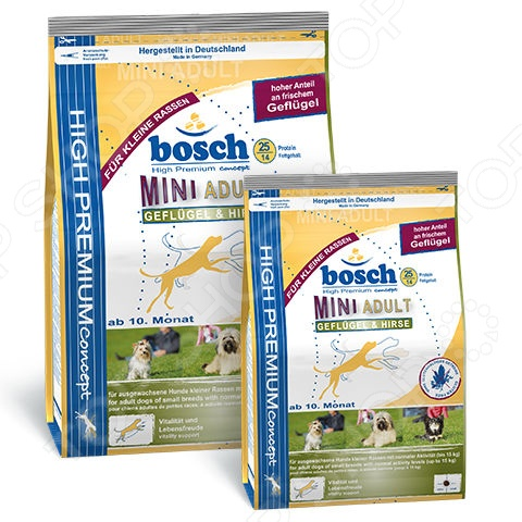 Adult Mini Gefluegel & Hirse Корм сухой для собак мелких пород Bosch Adult Mini Gefluegel & Hirse