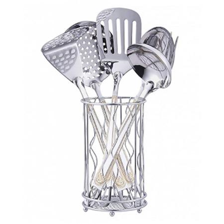 Купить Набор кухонных принадлежностей Zeidan в подставке «Корона»