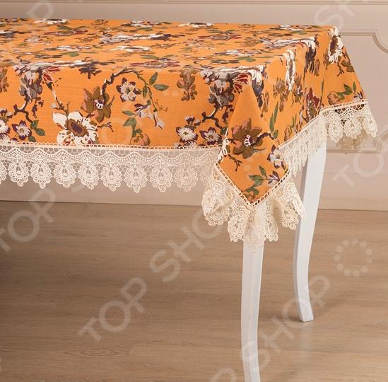 Скатерть Santalino 850-835-5 сидушка на стул santalino райский сад 850 832 5