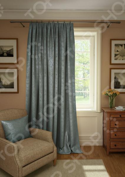 Штора Kauffort Plain Lux. Цвет: серый шторы интерьерные kauffort штора provence k на тесьме 136х175
