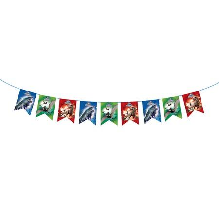 Купить Гирлянда из флажков Росмэн 28303 «Динозавры. С днем рождения!»