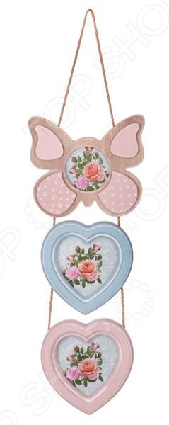 Фоторамка «Бабочка и сердца» 222-300