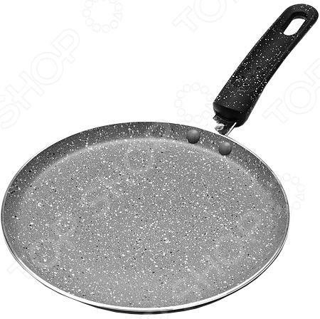 Сковорода блинная Mayer&Boch «Мраморная крошка». Цвет: серый блины и блинчики