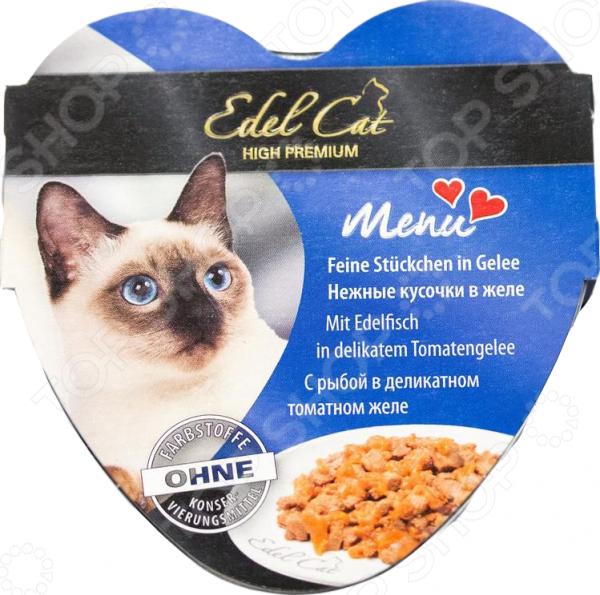 Корм консервированный для кошек Edel Cat Menu с рыбой в деликатном томатном желе