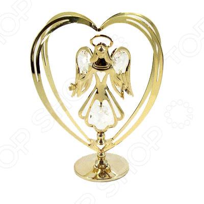где купить  Фигурка декоративная Crystocraft «Ангел» с кристаллами Swarovski 67118  по лучшей цене