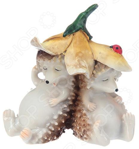 Фигурка декоративная Elan Gallery «Ежики под цветком» бусы из янтаря солнечные ежики