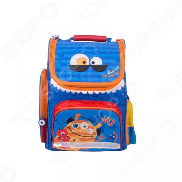 Рюкзак школьный Gulliver «Монстрик Гошик». Цвет: синий цены онлайн