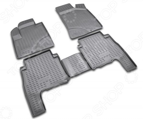 Комплект ковриков в салон автомобиля Novline-Autofamily Hyundai Ix55 2007. Цвет: бежевый - фото 4