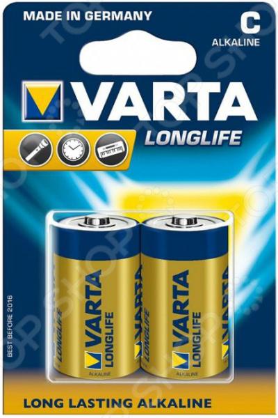 Элемент питания VARTA Longlife C 2 шт. батарейка varta longlife c бл 2
