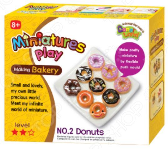 Набор для лепки Doner Land Miniatures Play «Пончики»