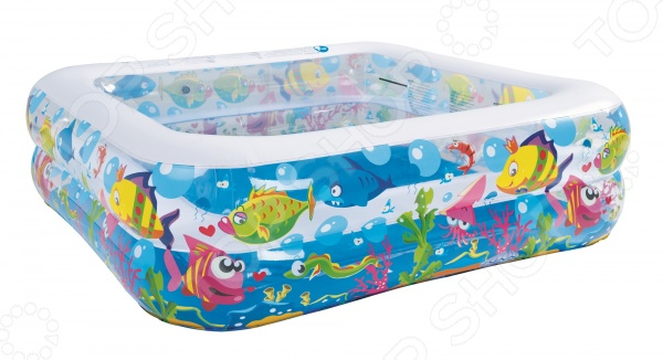 Бассейн надувной Jilong Sea World Square Pool JL017421NPF чехол на бассейн jilong pool cover d 360 см синий 16124 2