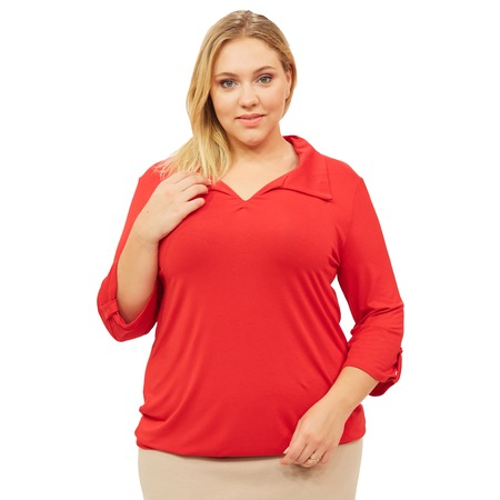 Купить Блуза Матекс «Евдокия». Цвет: красный